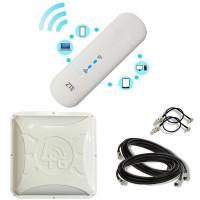 Комплект 4G WiFi USB роутер ZTE MF79u + 4G антенна 2x16 дБ